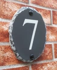 Rustic Oval Number Sign – 180mm x 140mm; 7 inches x 5.5 inches
